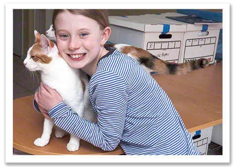 Frances with the Kitties R Olson 475.jpg
