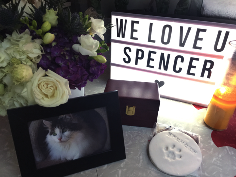 Spencer Sign Photo Urn Candle R Olson